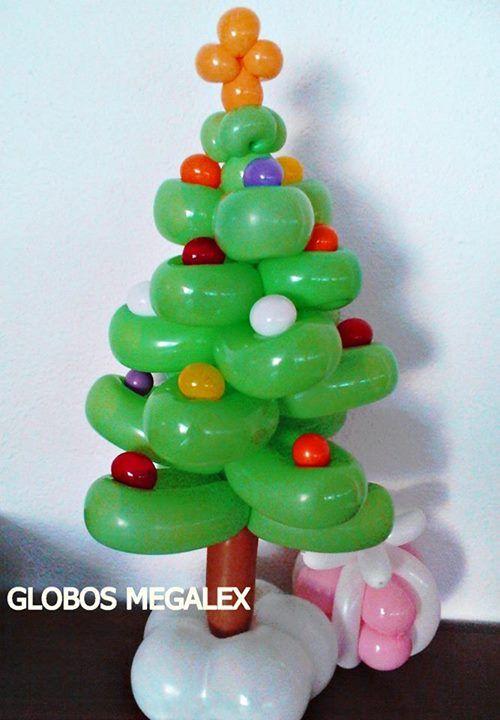 rbol de navidad de globos balloons christmas tree
