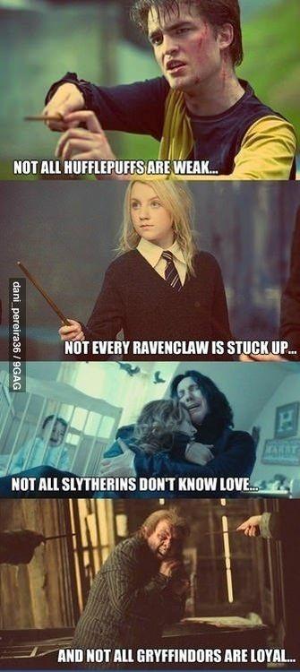 Cedric Diggory, Luna Lovegood, Severus Snape, Peter Pettigrew