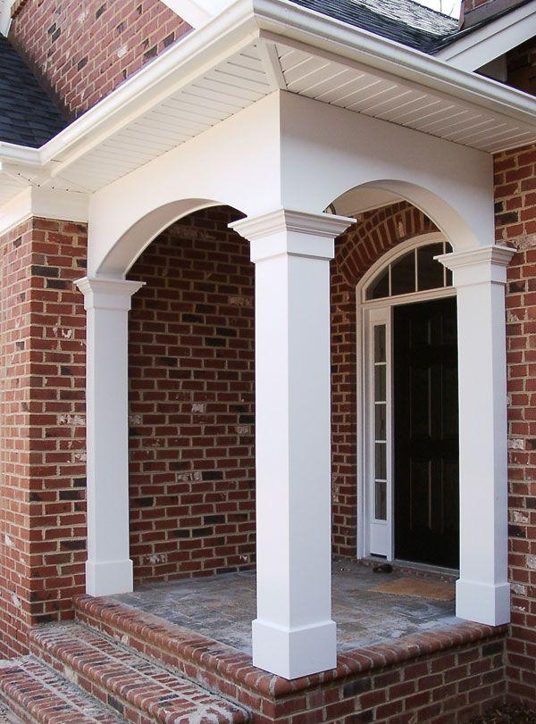 Best 25 front porch pillars ideas on pinterest porch for Cypress porch columns