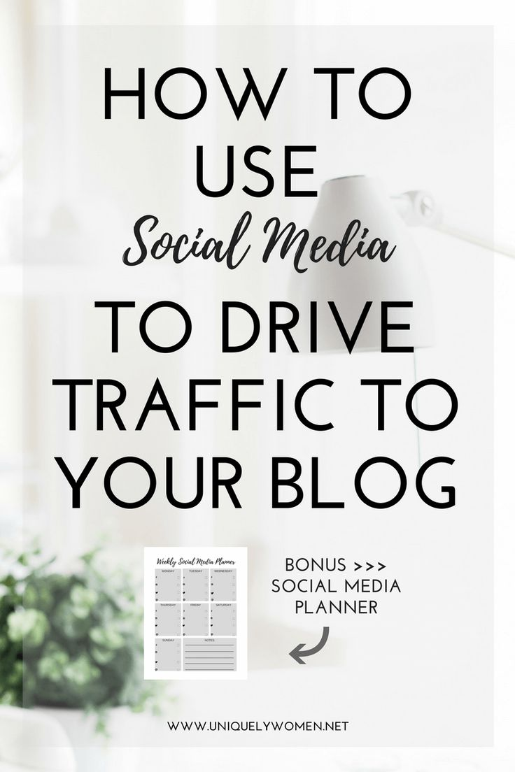 You need to be promoting your posts on social media – that's where your audience hangs out. Learn how to use social media to drive traffic to your blog!
