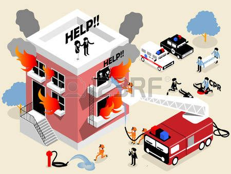 Resultado de imagen de edificio en llamas dibujo