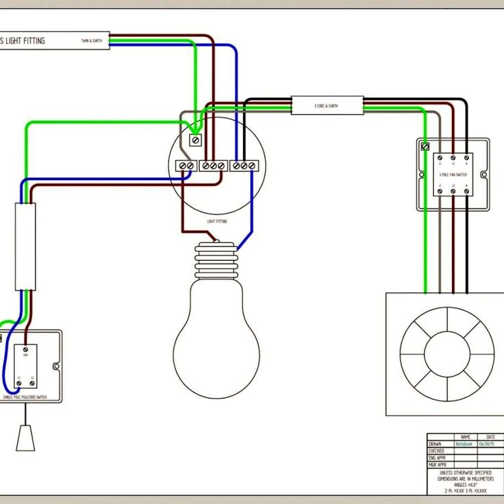 Wiring Diagram Bathroom Fan And Light