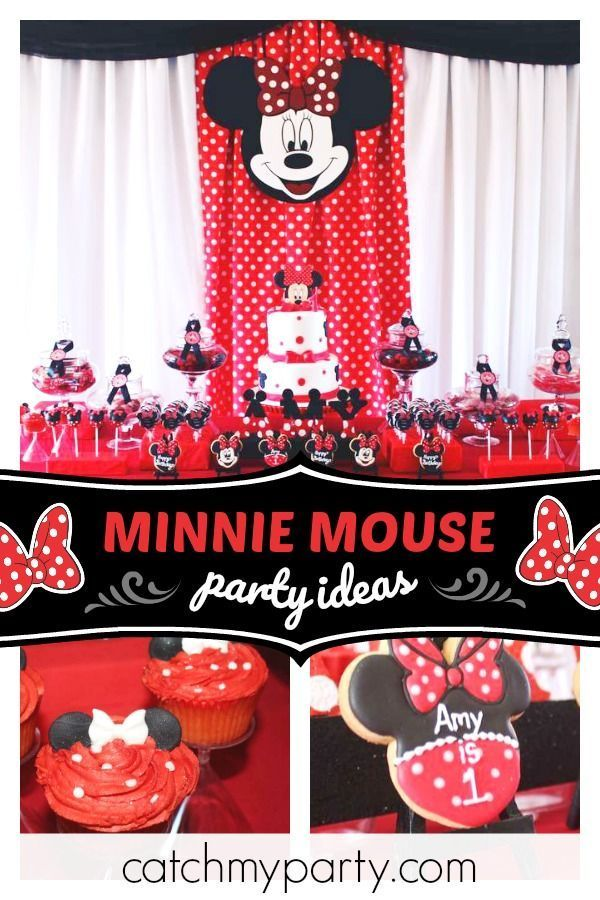 Minnie Mouse Birthday Red White And Black Minnie Mouse Party