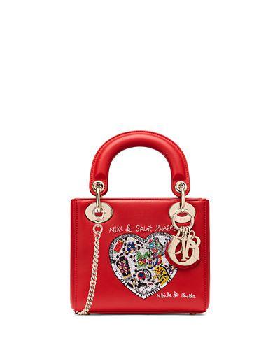 2b7fc8b3e26f Dior Mini Lady Dior Bag with Textured Niki de Saint Phalle Print ...