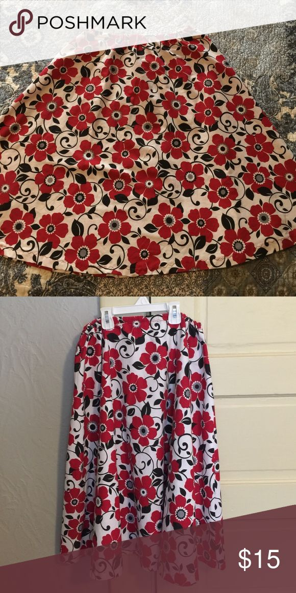 Beautiful handmade skirt size Small Beautiful handmade skirt, excellent condition! Elastic 13' inch waist at rest (stretches to 16') 26' inches long. Skirts