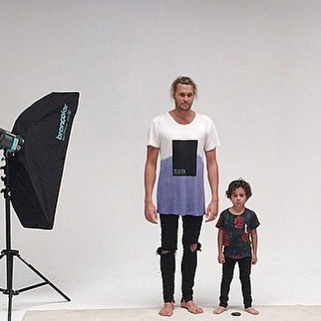 kids and mens fashion street surf style - rose print - tie die tee / Tevita clothing