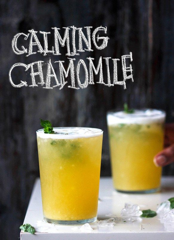 """Looking for a drink that presses your """"reset button"""" HARD? Try this delicious, calming tea muddled with sweet pineapple chunks and basil."""