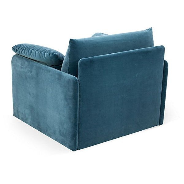 Peacock Blue Chair liked on Polyvore  polyvore rooms  Pinterest
