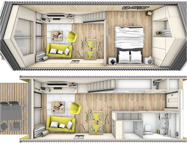Though not originally created as a home on wheels this Tiny house floor plan kit