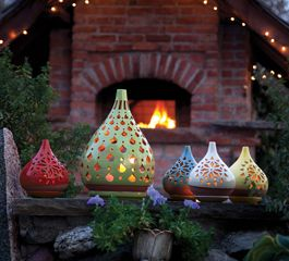 For the out-of-doors: Acacia's Egyptian Lanterns.