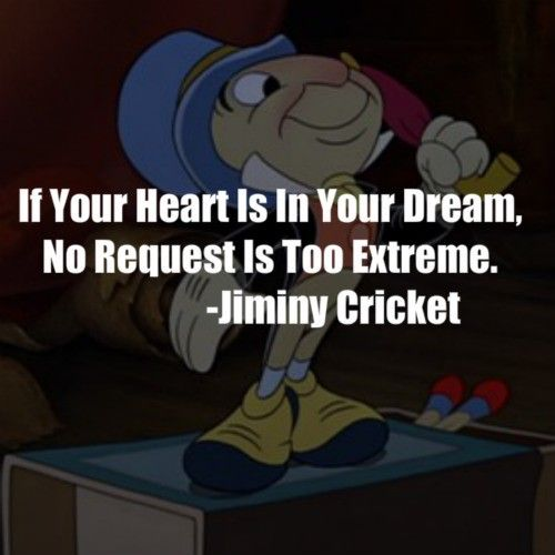 Jiminy Cricket Quotes Dreams Image Gallery HCPR
