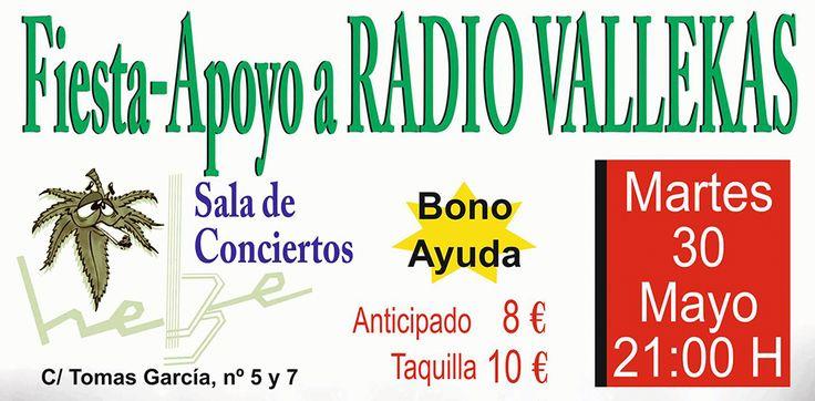 APOYA A RADIO VALLEKAS! (SALA HEBE 30 MAYO) #ApoyaRVK