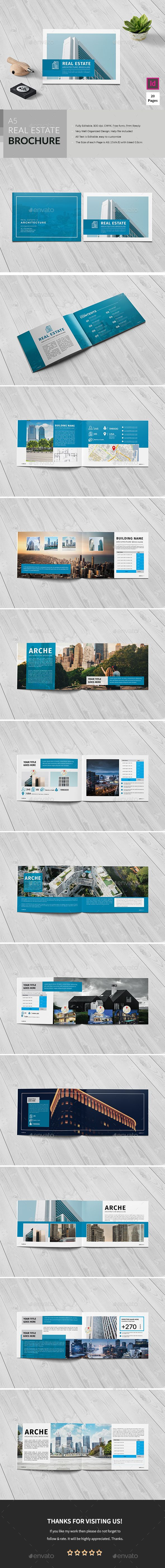 A5 Realestate/Architecture Brochure Easy to edit, you can change Blue accent color throughout the whole document at once, paragraph and character styles included, text and images placed on separate layers, text aligned to grid. It is a vertical design, available in A5 size (21×148) cm. It contains 24 pages... search tag: #A5 #Realestate / #Architecture Brochure - #Corporate #Brochures