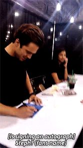 Sebastian signed a fans autograph with the wrong name. #sebastian stan