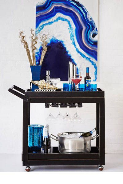 How to style the chicest bar cart.
