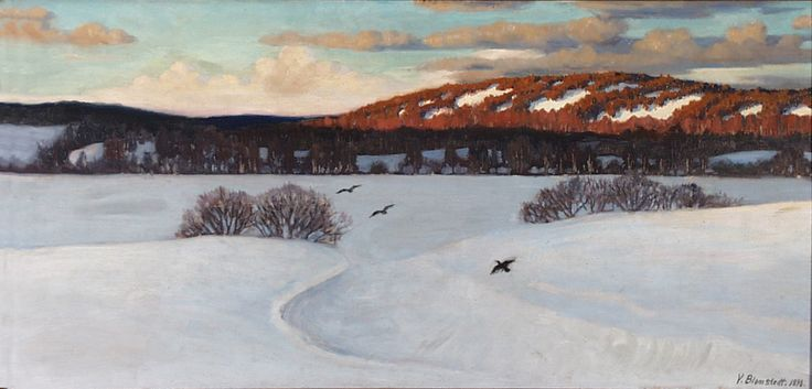 Väinö Blomstedt: Winter Sun, 1898.