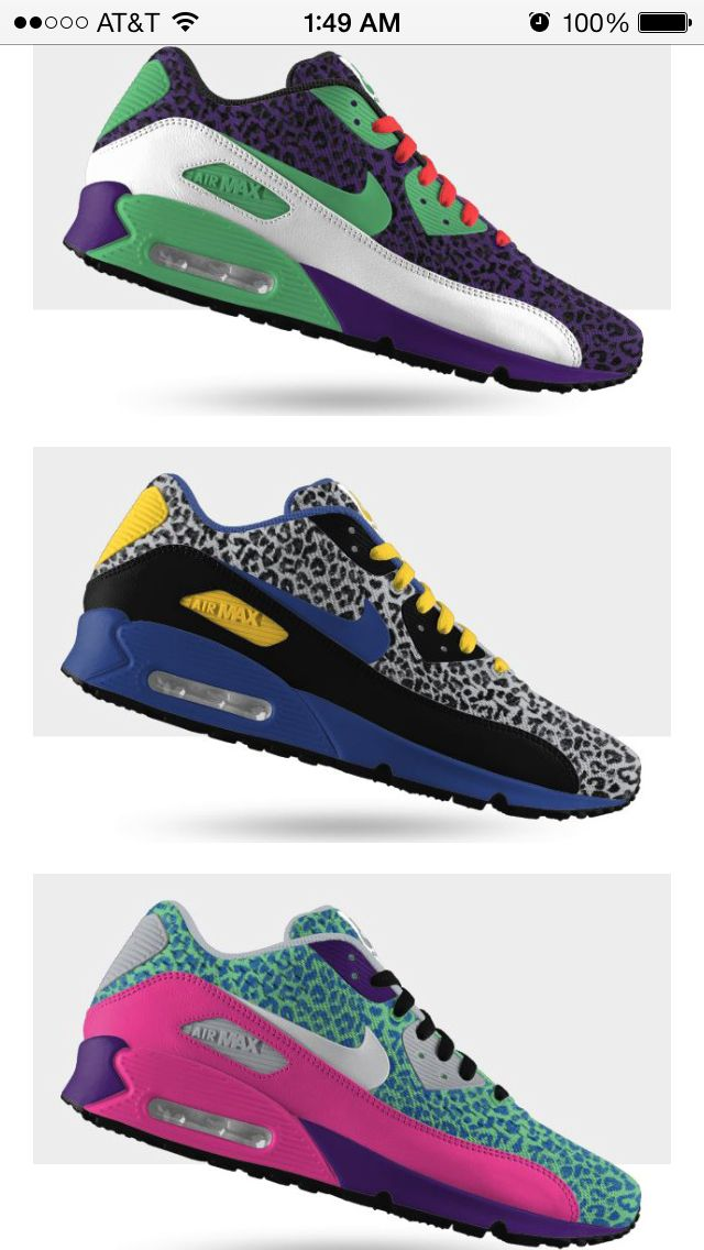 Love these NikeiD air max 90 EM cheetah print! They are definitely a nice  touch