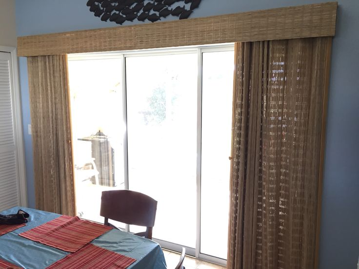Beautiful Woven Natural Material Window Treatment For Large Windows