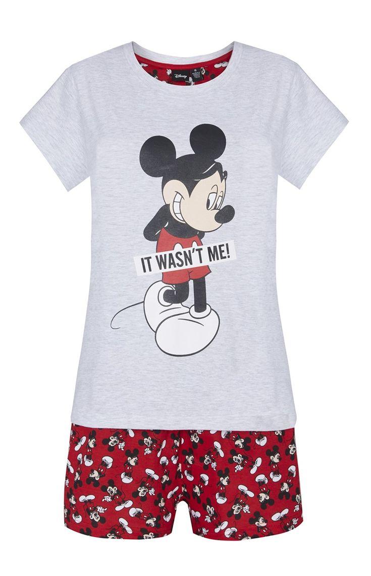 Primark - Conjunto calções Mickey Mouse vermelho