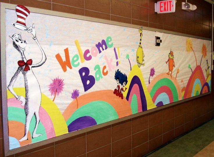 Dr+Seuss+Bulletin+Board+Ideas | ArtMuse67: My ''Welcome Back' Bulletin Board-Suess Style!