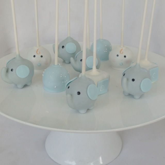 Elephant Baby Shower Pops!