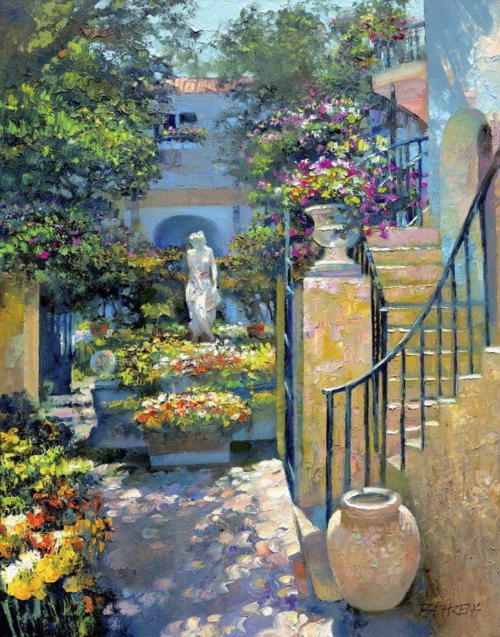 """""""Palm Beach Courtyard"""" by Howard Behrens"""