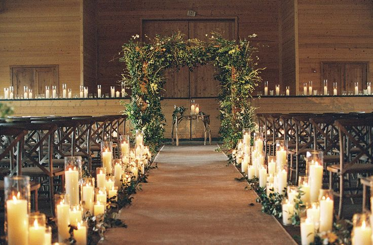 Our wedding planner, Lisa [Vorce], knew how important candlelight was to me. It was either a petal toss or candles—doing both was a fire hazard, I opted for the latter.