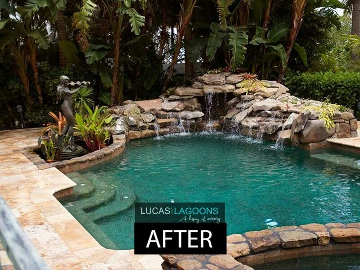 Lucas Lagoons  Pools in 2019  Lagoon pool Pool remodel Pool water features