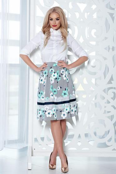Fusta midi in clos LaDonna mint cu imprimeu floral - http://hainesic.ro/fuste/fusta-midi-in-clos-ladonna-mint-cu-imprimeu-floral-b74767c55-starshinersro/