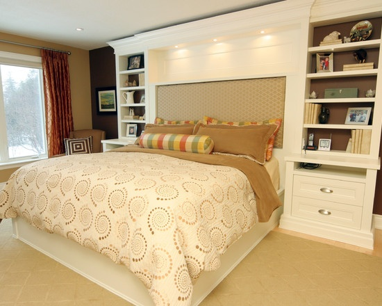 Built In Headboard Design Pictures Remodel Decor And