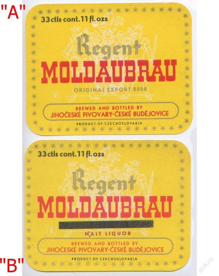 PEMD 1 ks stará etiketa REGENT MOLDAUBRAU EXPORT B (6397803484) - Aukro - největší obchodní portál