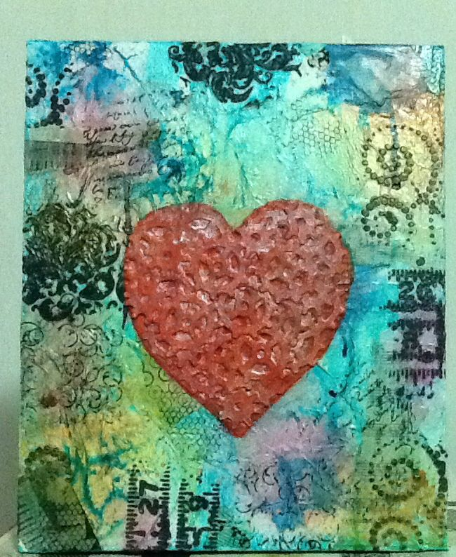 Gears of love... Still need to think up a great phrase to add to this canvas!!!