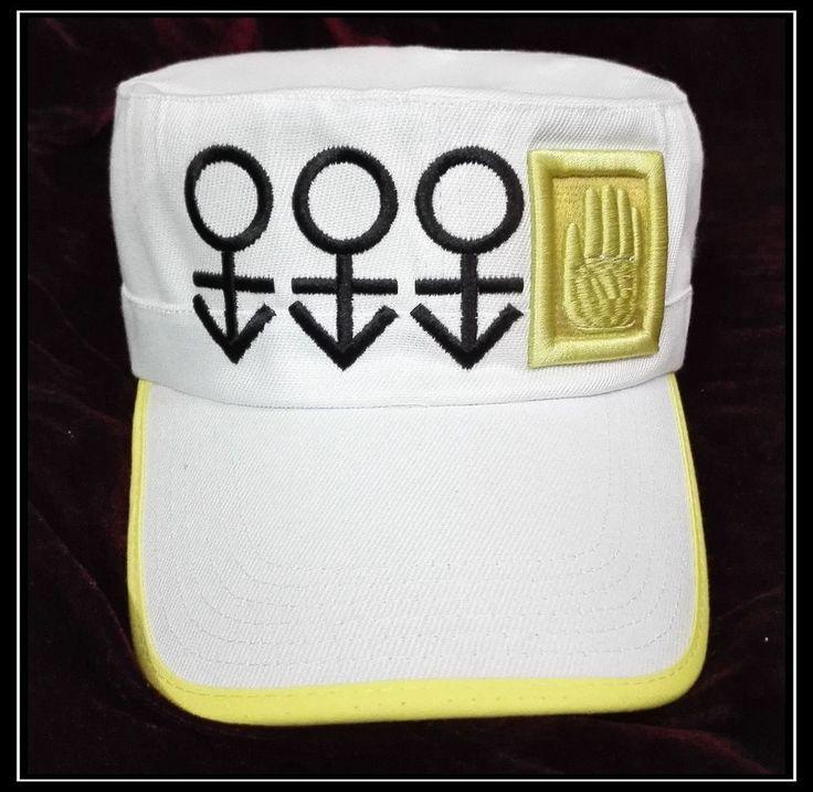 Anime JoJo's Bizarre Adventure Kujo Jotaro Cosplay Adjustable Hat White Gift