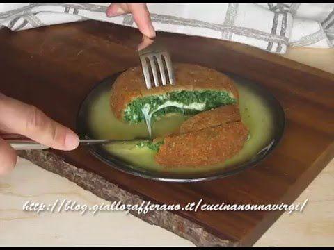 hamburger agli spinaci al formaggio video ricetta