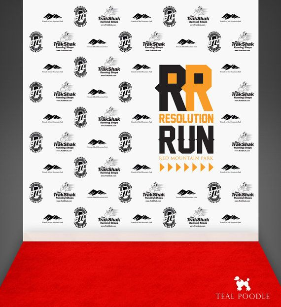 Custom Step And Repeat Backdrop For Red Carpet Event By TealPoodle