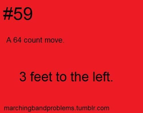 Marching Band Problems- Better still get those toes up though!!!