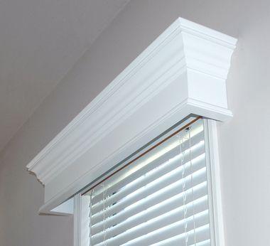The Pleasanton custom window cornice will bring simple elegance to your windows.