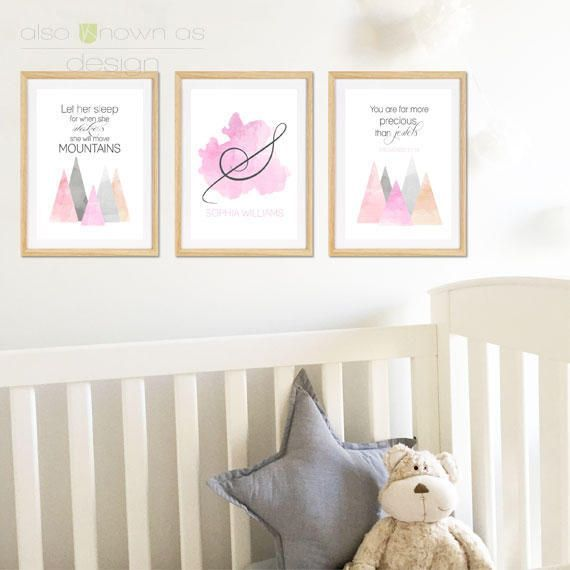 Watercolour Mountains Set by AlsoKnownAsCreative on Etsy