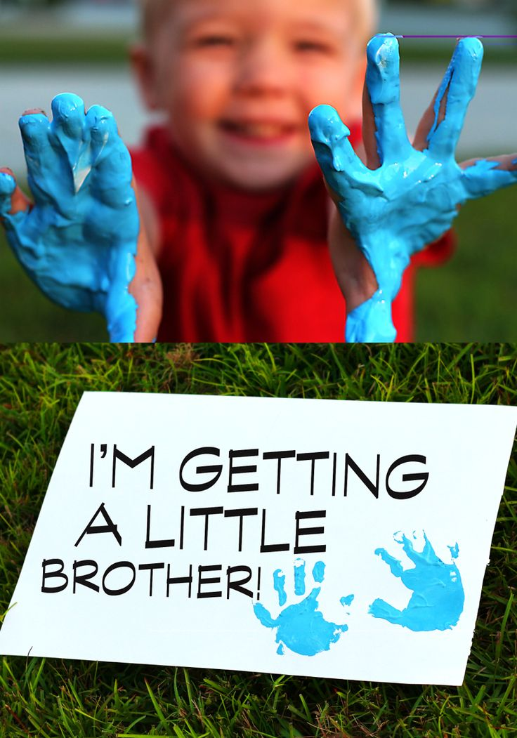 gender reveal with my three year old son big brother