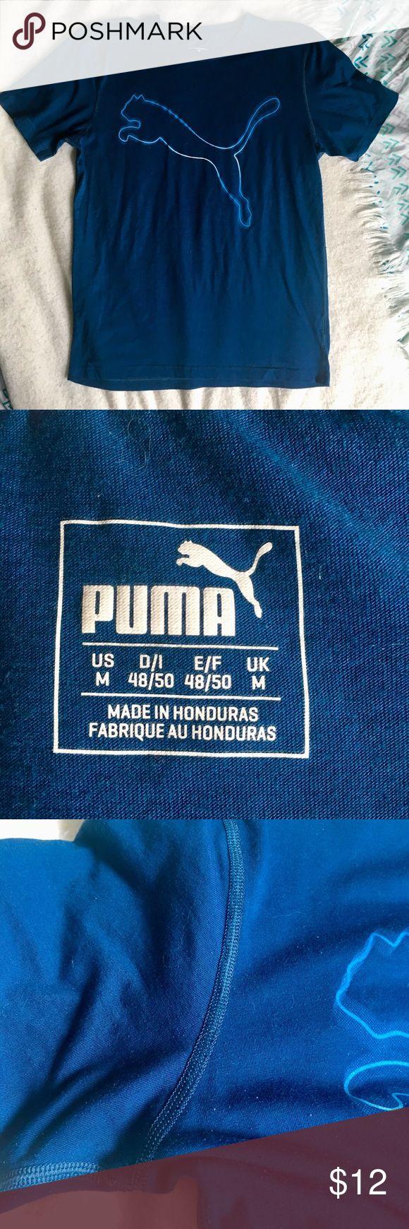 PUMA T-Shirt! Blue PUMA t-Shirt, in excellent condition. Size medium. Puma Shirts Tees - Short Sleeve
