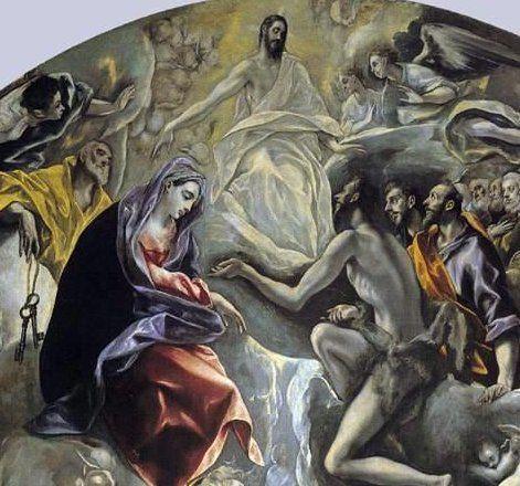 El Greco - El entierro del Conde de Orgaz  (detalle de la Gloria)