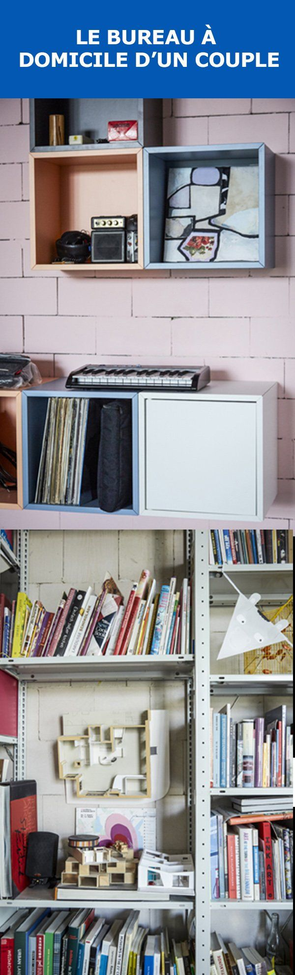 Quand votre maison est aussi votre bureau et votre salle d'exposition, c'est avantageux d'organiser votre espace. Voyez comment l'espace de vie et de travail à aire ouverte de ce couple allie fonctionnalité et créativité.