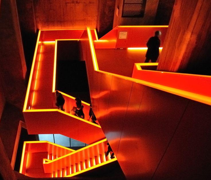 stairs inside the Ruhrmuseum (Essen Zeche Zollverein)