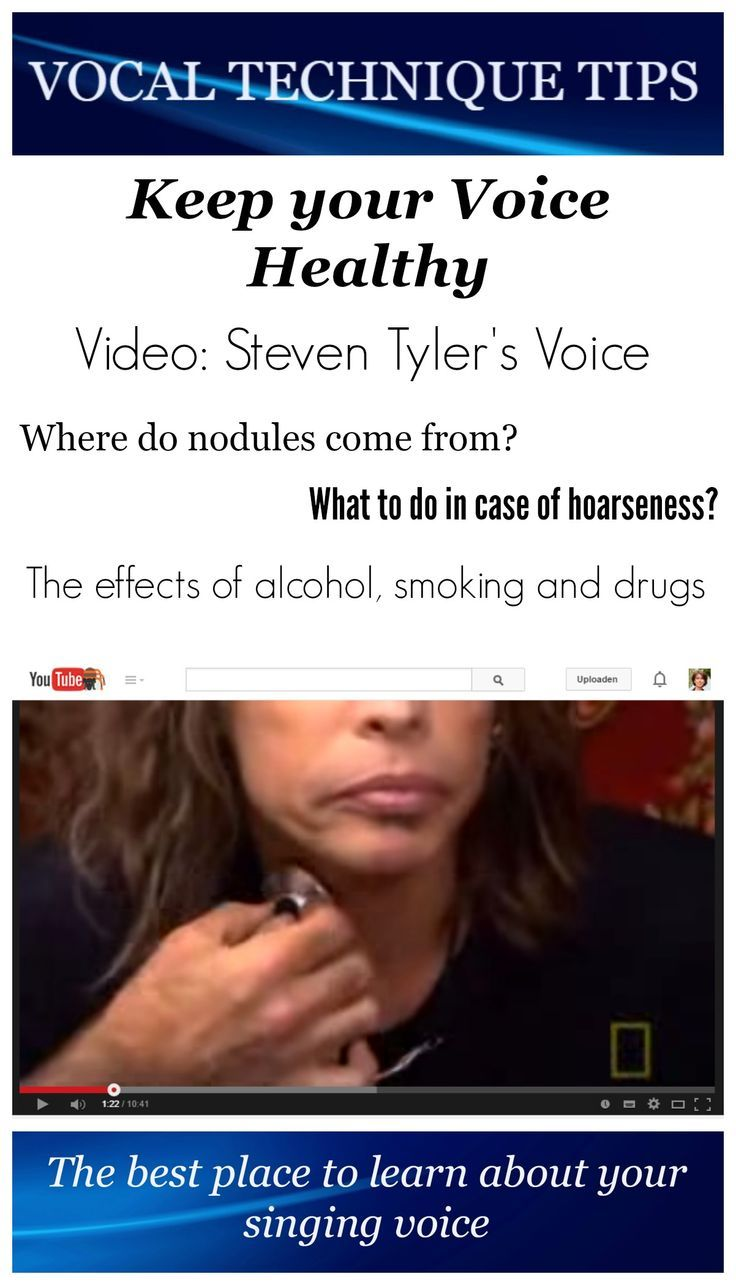 Where do nodules come from? What to do in case of hoarseness? What are the effects of alcohol of smoking and what procedures does a doctor use to heal vocal trauma? If you love to sing it can be very helpful to know a little about vocal health and what is called 'vocal hygiene'.