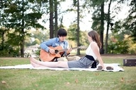 A picnic blanket.  A guitar.  One of the best things ever.