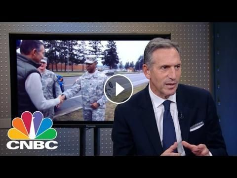 Starbucks CEO Howard Schultz: Hiring Veterans | Mad Money | CNBC: Jim Cramer spoke with Howard Schultz on hiring veterans, the election and…