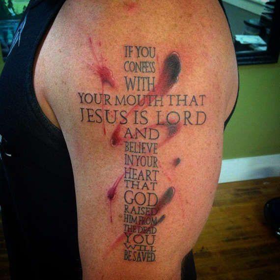 Perfect Cross Tattoos Designs (29)