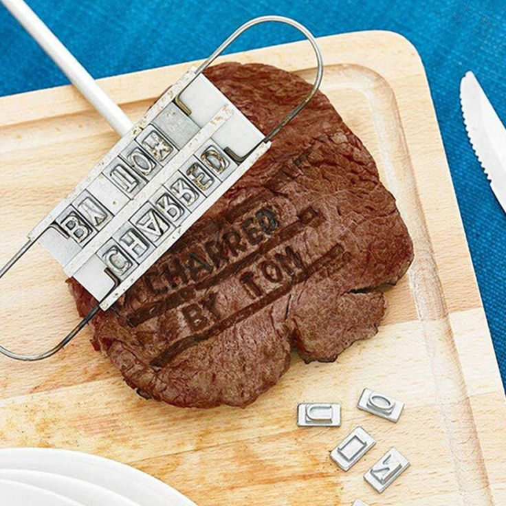 Fun food gadgets you need: BRANDING IRON Slide letters, heat, brand your steak! Sssimple as sssizzle