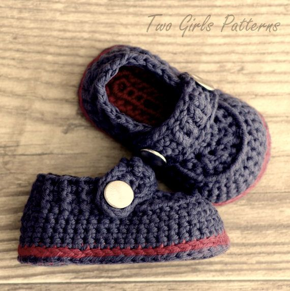 Crochet patterns - Baby Boy Booties - The Sailor - Pattern number 203
