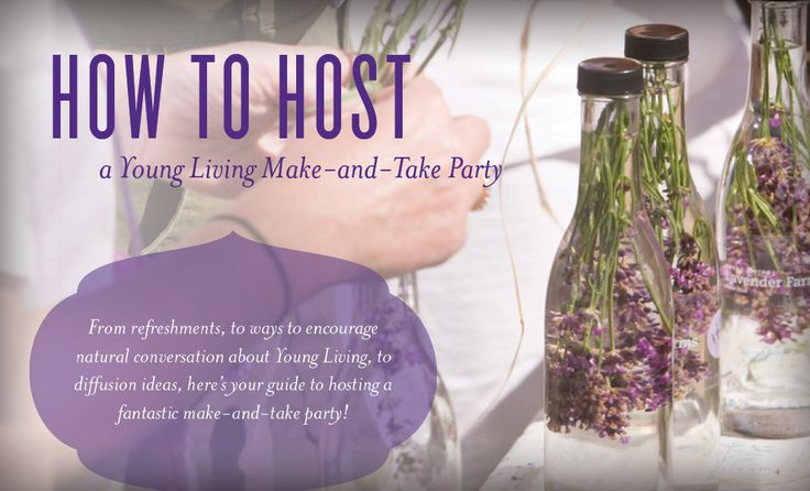 Whether you're looking for new ideas to share Young Living or you'd like to get your friends together for your own girls' night, hosting a Young Living make-and-take party is a great opportunity to meet new people, make some fun DIY projects, and show friends and neighbors that Young Living is more than just a drop of oil—that our products can ...